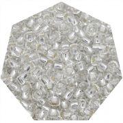 Miçanga Jablonex / Preciosa® - 6/0 [4,1mm] - Prata Transparente - 500g