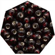 Miçanga Jablonex / Preciosa® - 6/0 [4,1mm] - Vermelho Escuro Transparente - 500g
