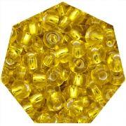 Miçanga Jablonex / Preciosa® - 9/0 [2,6mm] - Amarelo Transparente - 500g