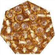 Miçanga Jablonex / Preciosa® - 9/0 [2,6mm] - Ouro Médio Transparente - 500g
