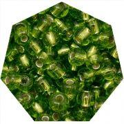 Miçanga Jablonex / Preciosa® - 9/0 [2,6mm] - Verde Claro Transparente - 500g