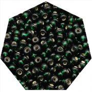 Miçanga Jablonex / Preciosa® - 9/0 [2,6mm] - Verde Escuro Transparente - 500g