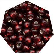 Miçanga Jablonex / Preciosa® - 9/0 [2,6mm] - Vermelho Escuro Transparente - 500g