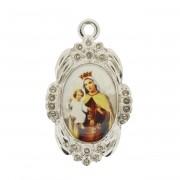 Nossa Senhora do Carmo - Níquel e Resina - 42x26mm