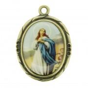 Nossa Senhora Imaculada Conceição - Ouro Velho e Resina - 42mm