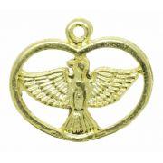 Pingente - Metal - Divino Espírito Santo - Dourado - 1,9cm - 01 peça