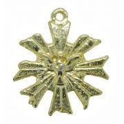 Pingente - Metal - Divino Espírito Santo - Dourado - 2,3cm - 05 Peças