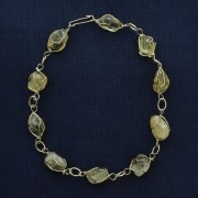 Pulseira Stone® - Ágata Dourada