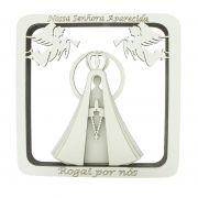 Quadro 3D - Nossa Senhora Aparecida - Branco