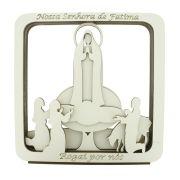 Quadro 3D - Nossa Senhora de Fátima - Branco