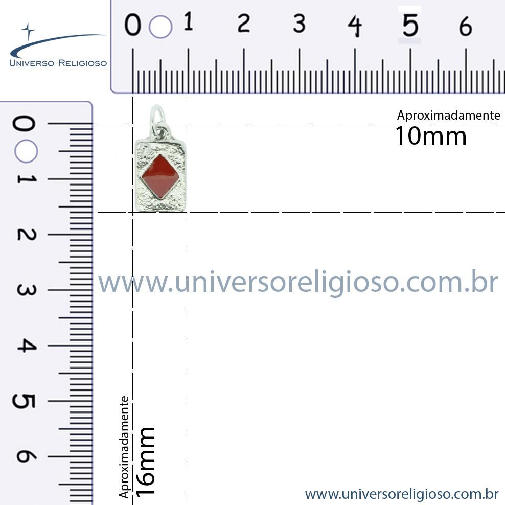 Kit 4 Cartas - Níquel e Resina - 16mm  - Universo Religioso® - Artigos de Umbanda e Candomblé