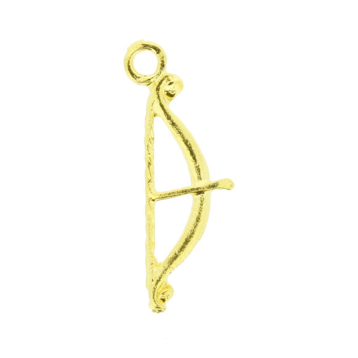 Arco e Flecha - Dourado - 25mm  - Universo Religioso® - Artigos de Umbanda e Candomblé