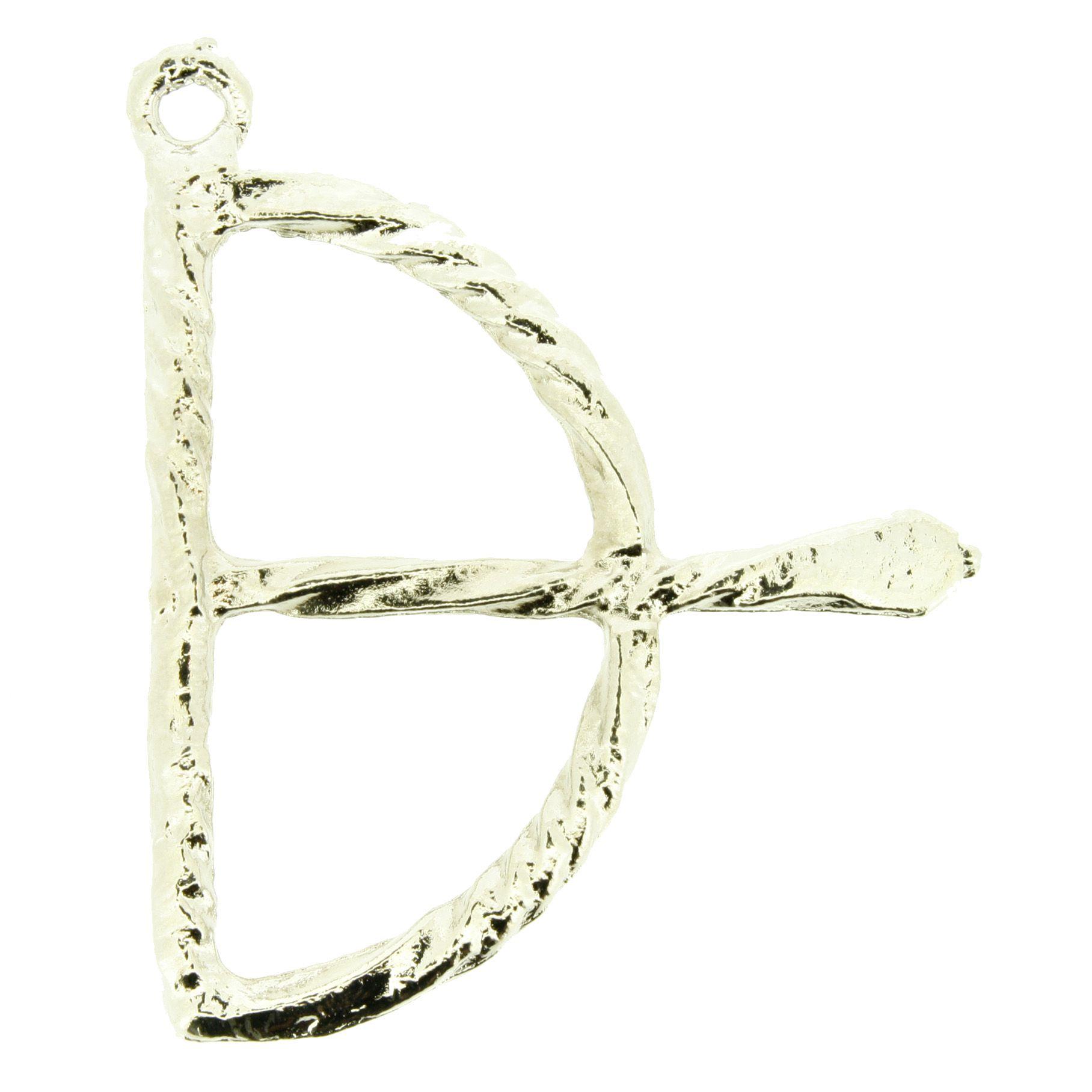 Arco e Flecha - Níquel - 47mm  - Universo Religioso® - Artigos de Umbanda e Candomblé