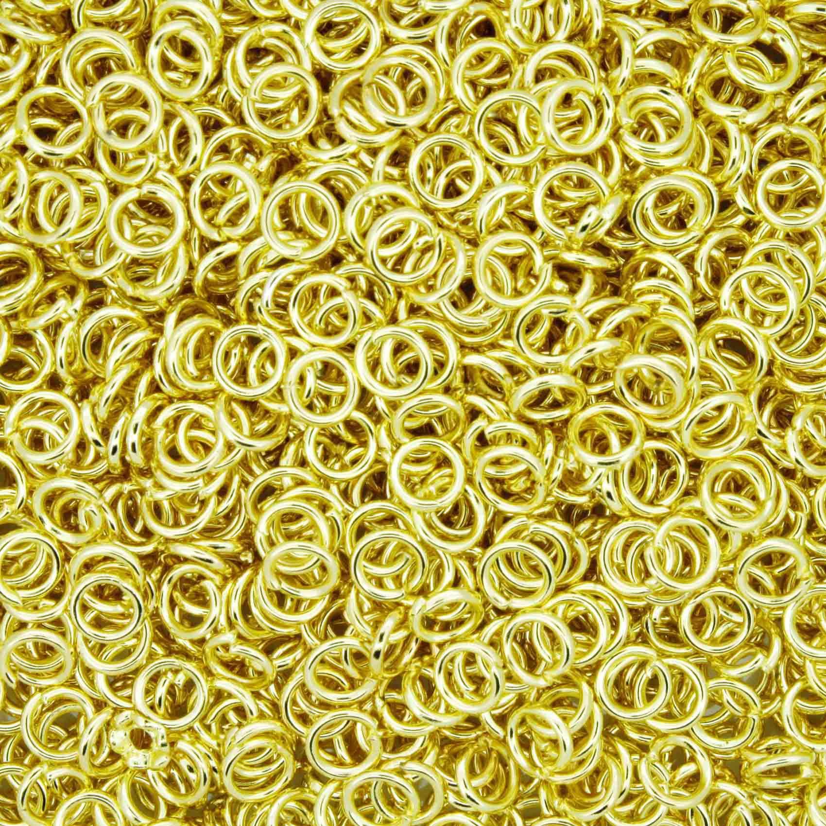 Argola p/ Montagem - Dourada - 4mm  - Universo Religioso® - Artigos de Umbanda e Candomblé
