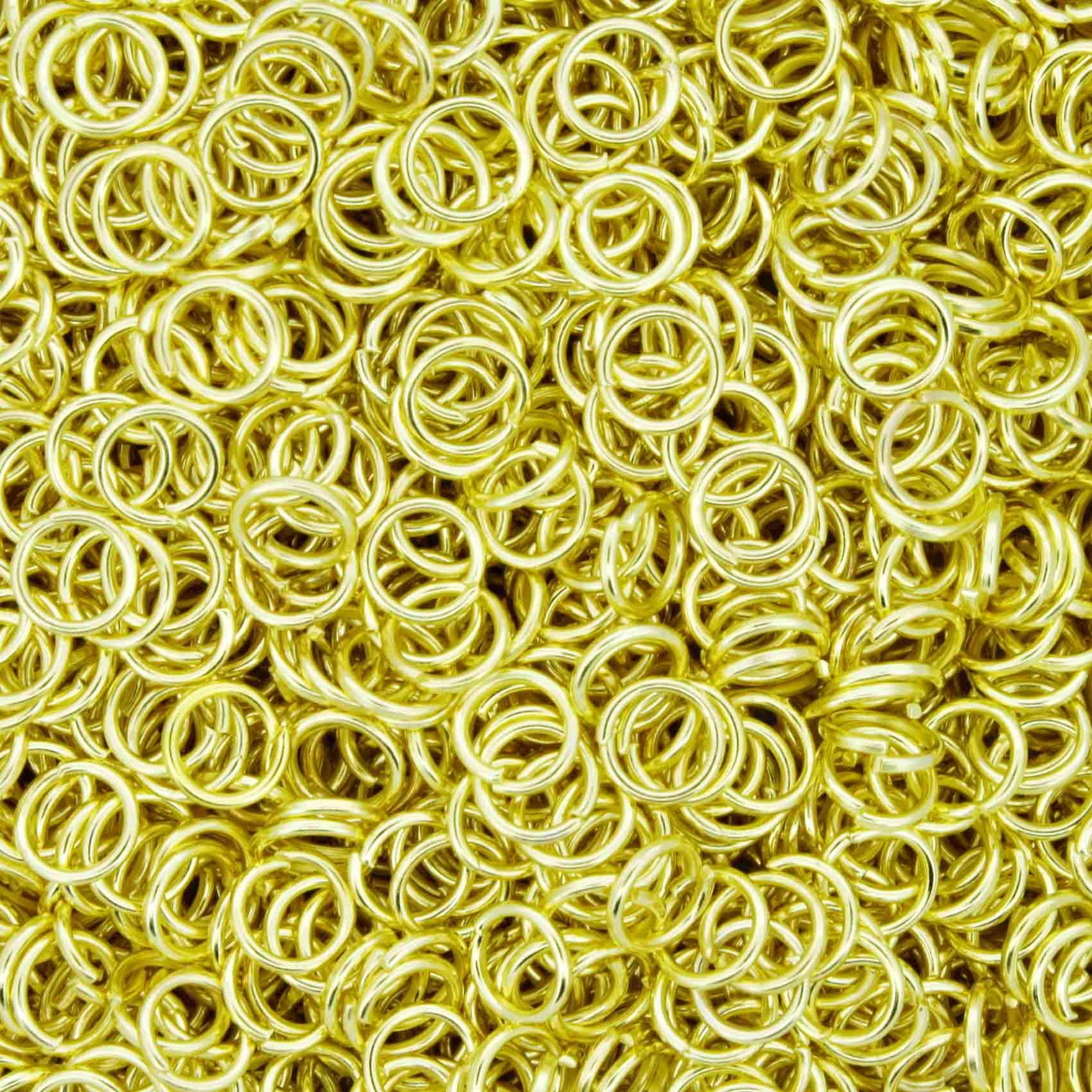 Argola p/ Montagem - Dourada - 5mm  - Universo Religioso® - Artigos de Umbanda e Candomblé