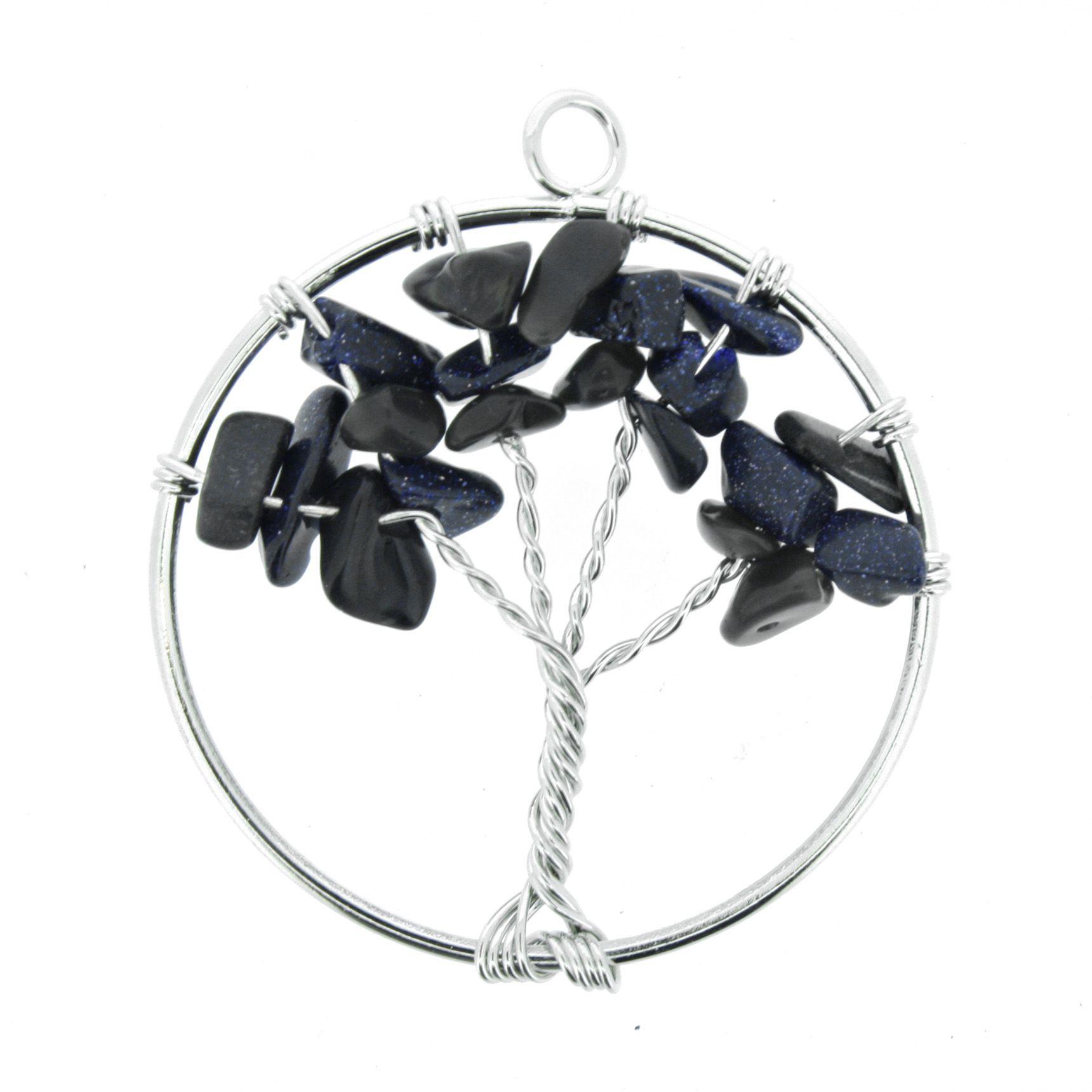 Árvore da Vida de Arame com Pedra - Pedra Estrela - 40mm  - Universo Religioso® - Artigos de Umbanda e Candomblé