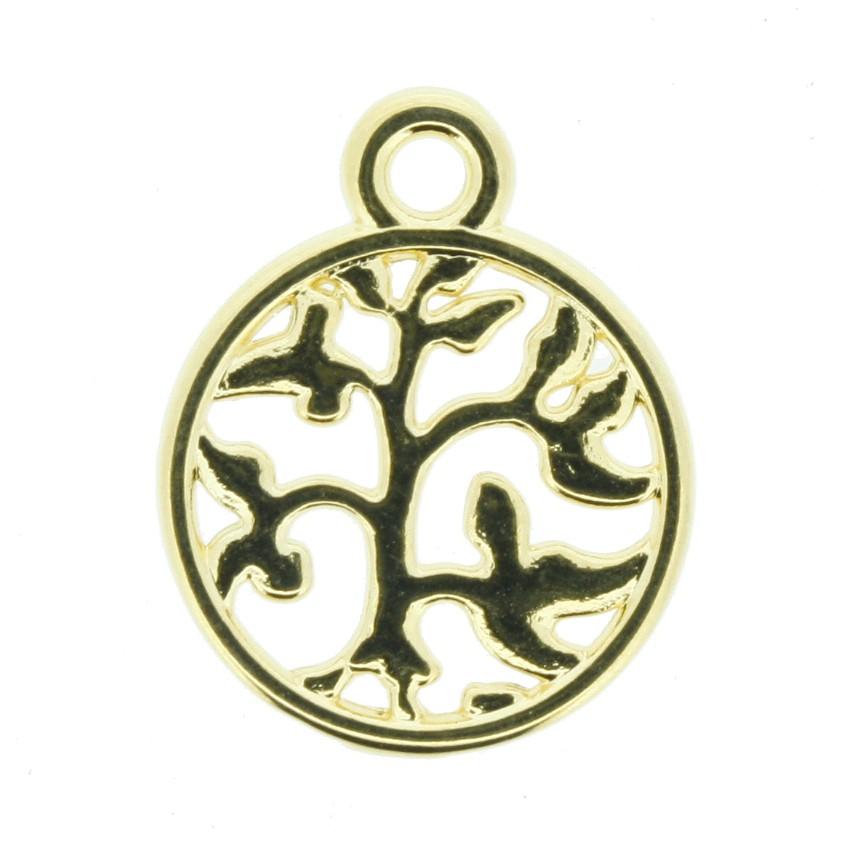 Árvore da Vida - Dourada - 18mm  - Universo Religioso® - Artigos de Umbanda e Candomblé