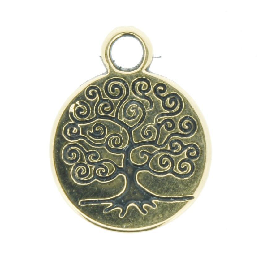 Árvore da Vida - Dourado Gráfico - 18mm  - Universo Religioso® - Artigos de Umbanda e Candomblé
