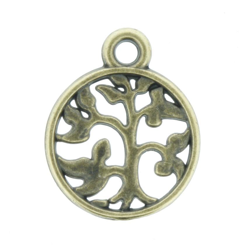 Árvore da Vida - Ouro Velho - 18mm  - Universo Religioso® - Artigos de Umbanda e Candomblé