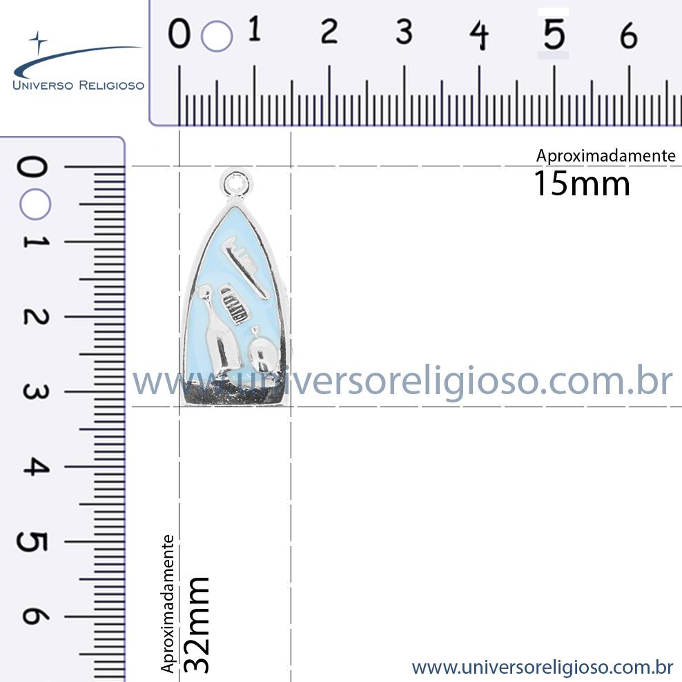 Barco Iemanjá - Níquel e Resina - 32mm  - Universo Religioso® - Artigos de Umbanda e Candomblé