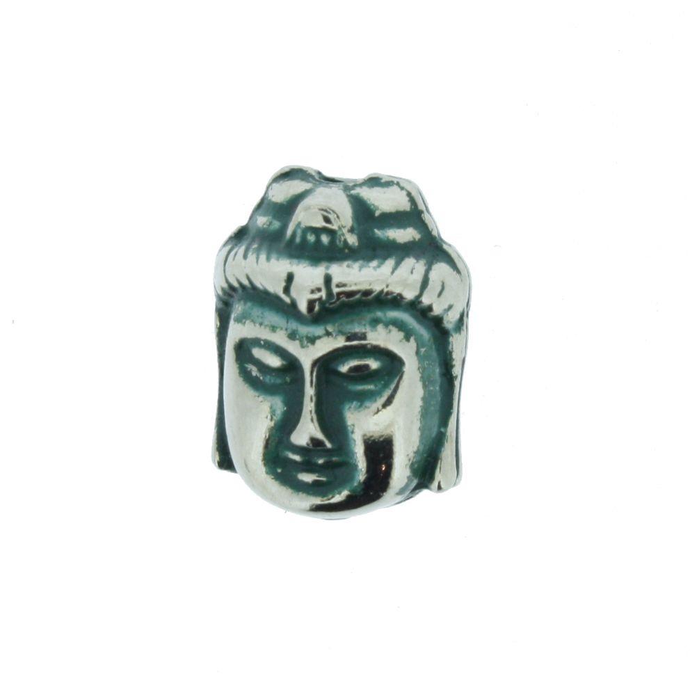 Buda - Verde Níquel - 13mm  - Universo Religioso® - Artigos de Umbanda e Candomblé
