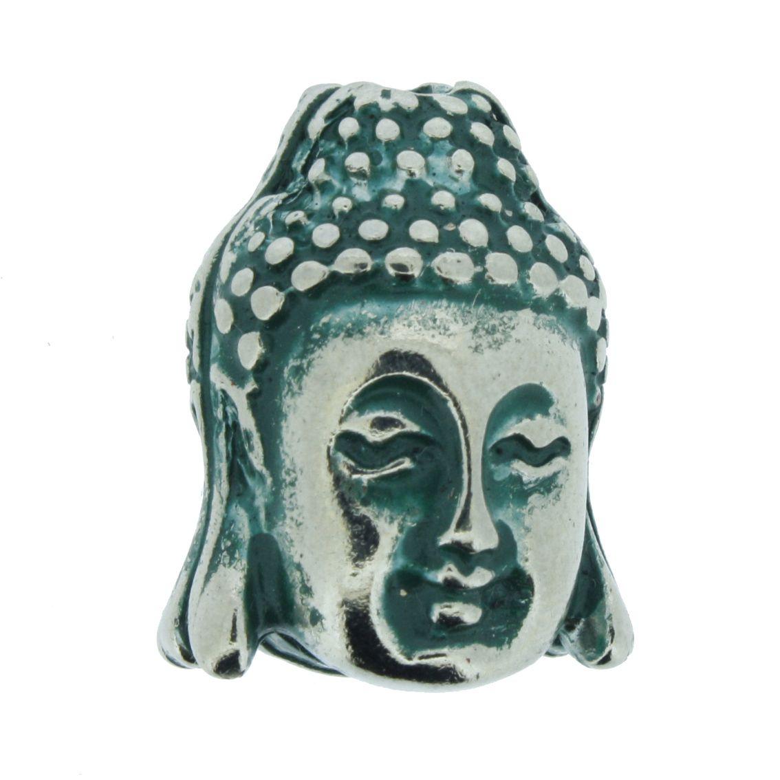 Buda - Verde Níquel - 23mm  - Universo Religioso® - Artigos de Umbanda e Candomblé