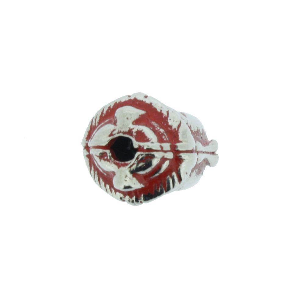 Buda - Vermelho Níquel - 13mm  - Universo Religioso® - Artigos de Umbanda e Candomblé