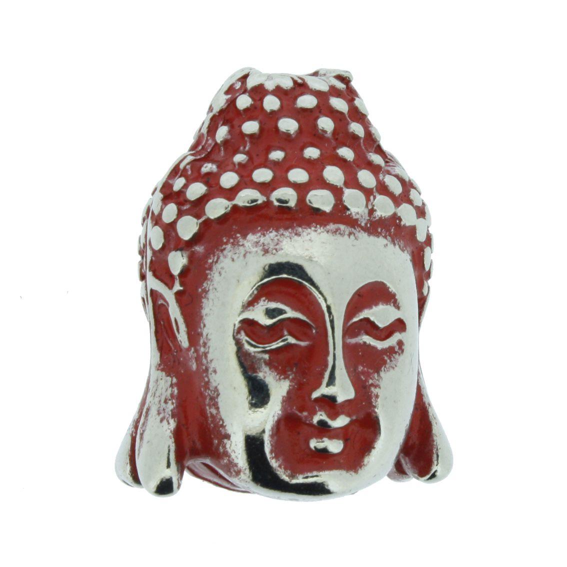 Buda - Vermelho Níquel - 23mm  - Universo Religioso® - Artigos de Umbanda e Candomblé