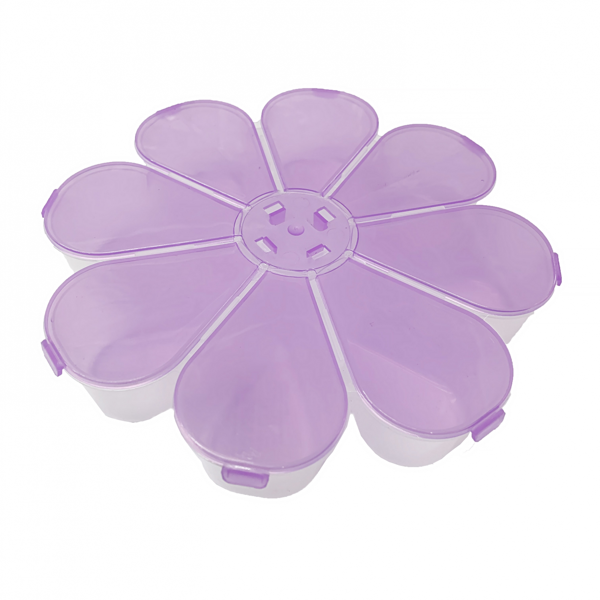 Caixa Organizadora Flor - Lilás Transparente  - Universo Religioso® - Artigos de Umbanda e Candomblé