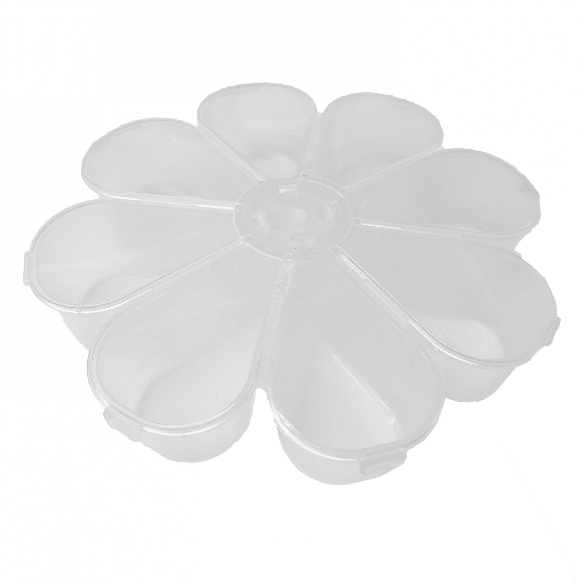Caixa Organizadora Flor - Transparente  - Universo Religioso® - Artigos de Umbanda e Candomblé