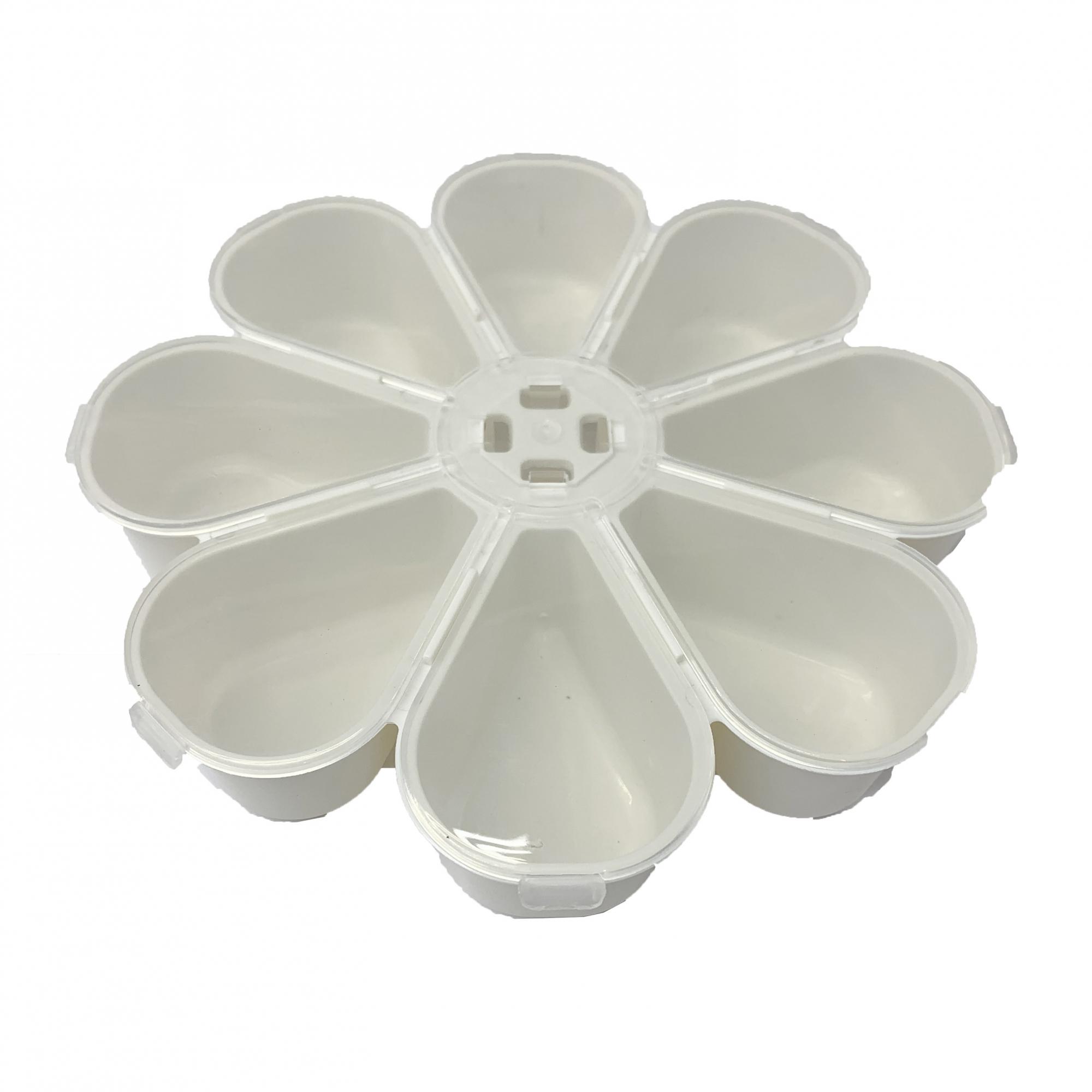 Caixa Organizadora Flor - Transparente e Branca  - Universo Religioso® - Artigos de Umbanda e Candomblé