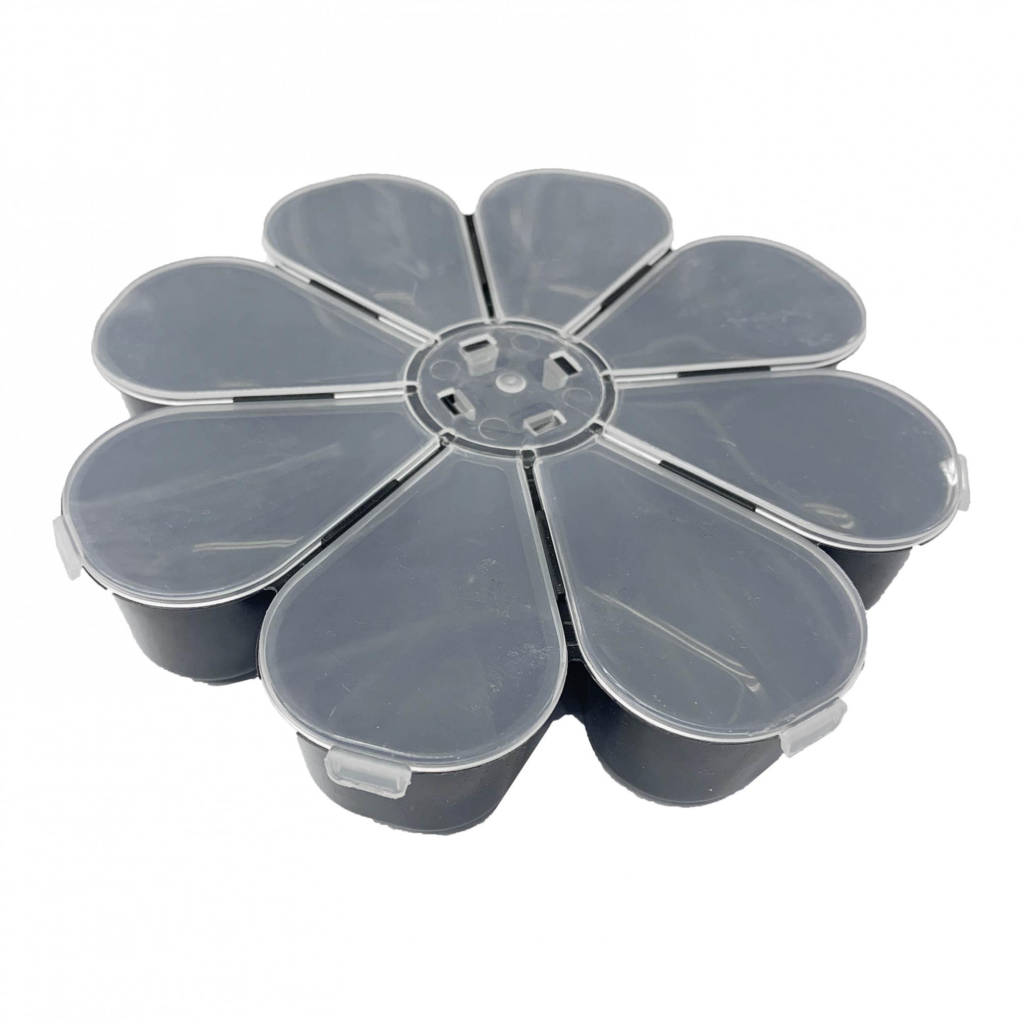 Caixa Organizadora Flor - Transparente e Preta  - Universo Religioso® - Artigos de Umbanda e Candomblé