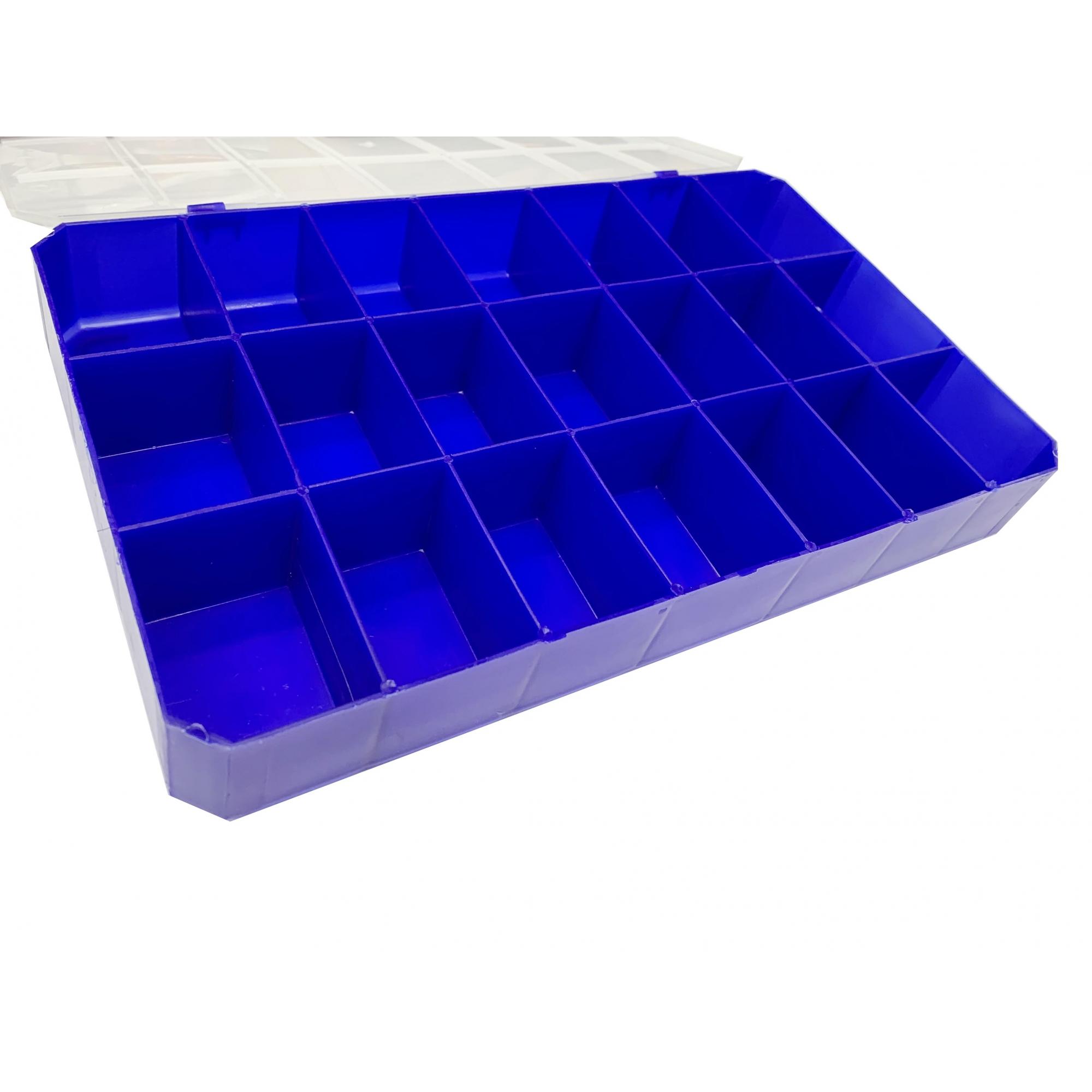 Caixa Organizadora - Transparente e Azul  - Universo Religioso® - Artigos de Umbanda e Candomblé