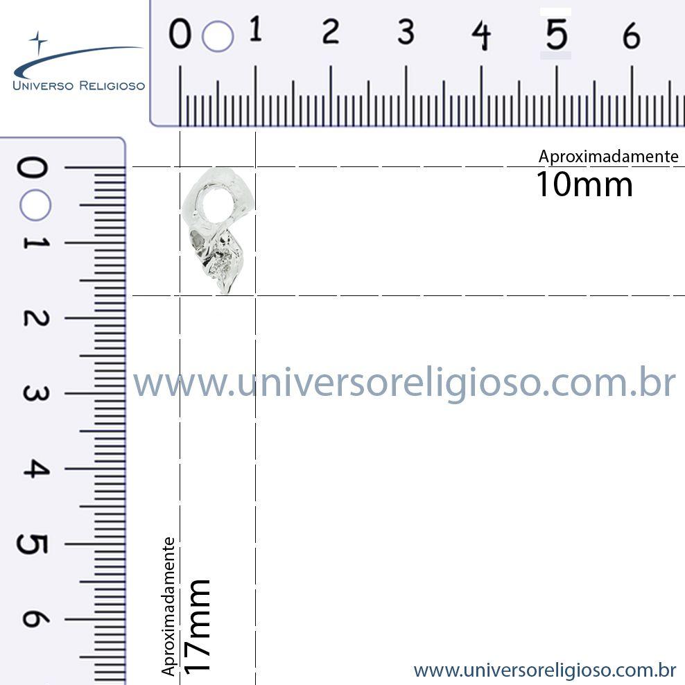 Caveira - Níquel - 17mm  - Universo Religioso® - Artigos de Umbanda e Candomblé