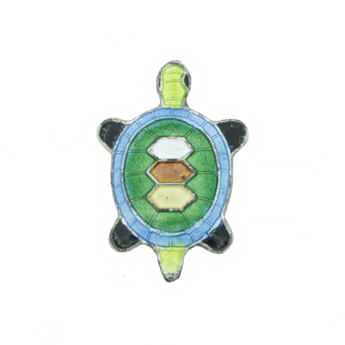 Cloisonné - Entremeio - Tartaruga - Verde  - Universo Religioso® - Artigos de Umbanda e Candomblé