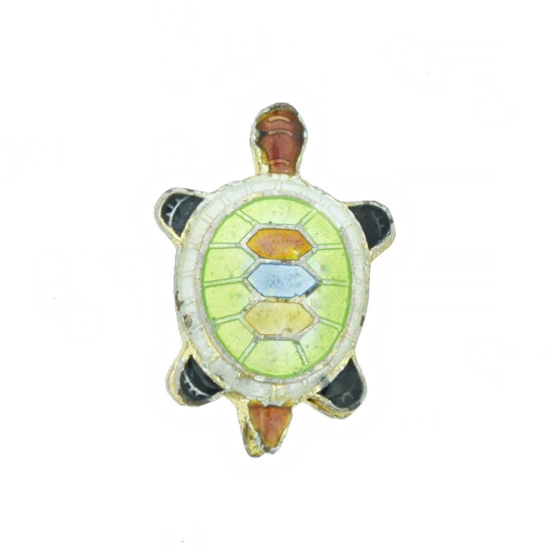 Cloisonné - Entremeio - Tartaruga - Verde Claro  - Universo Religioso® - Artigos de Umbanda e Candomblé