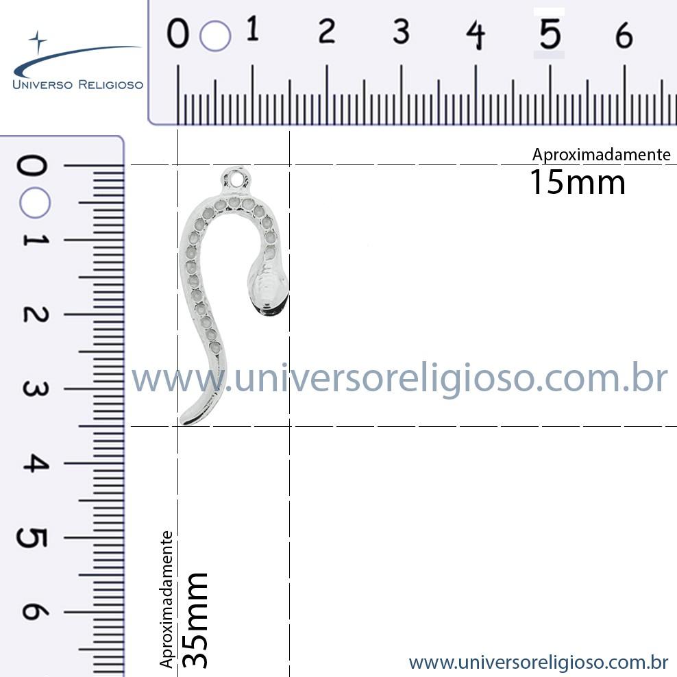 Cobra - Oxumaré - Níquel - 35mm  - Universo Religioso® - Artigos de Umbanda e Candomblé