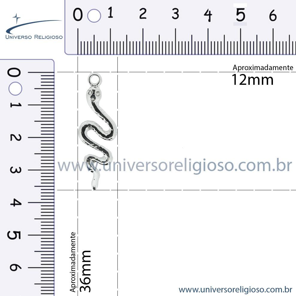 Cobra - Oxumaré - Níquel - 36mm  - Universo Religioso® - Artigos de Umbanda e Candomblé