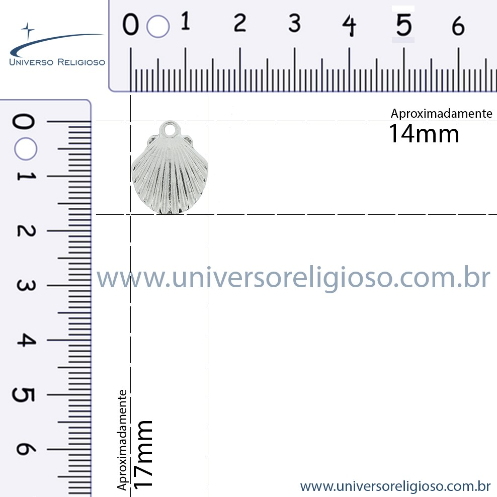 Concha - Dourada - 17mm  - Universo Religioso® - Artigos de Umbanda e Candomblé