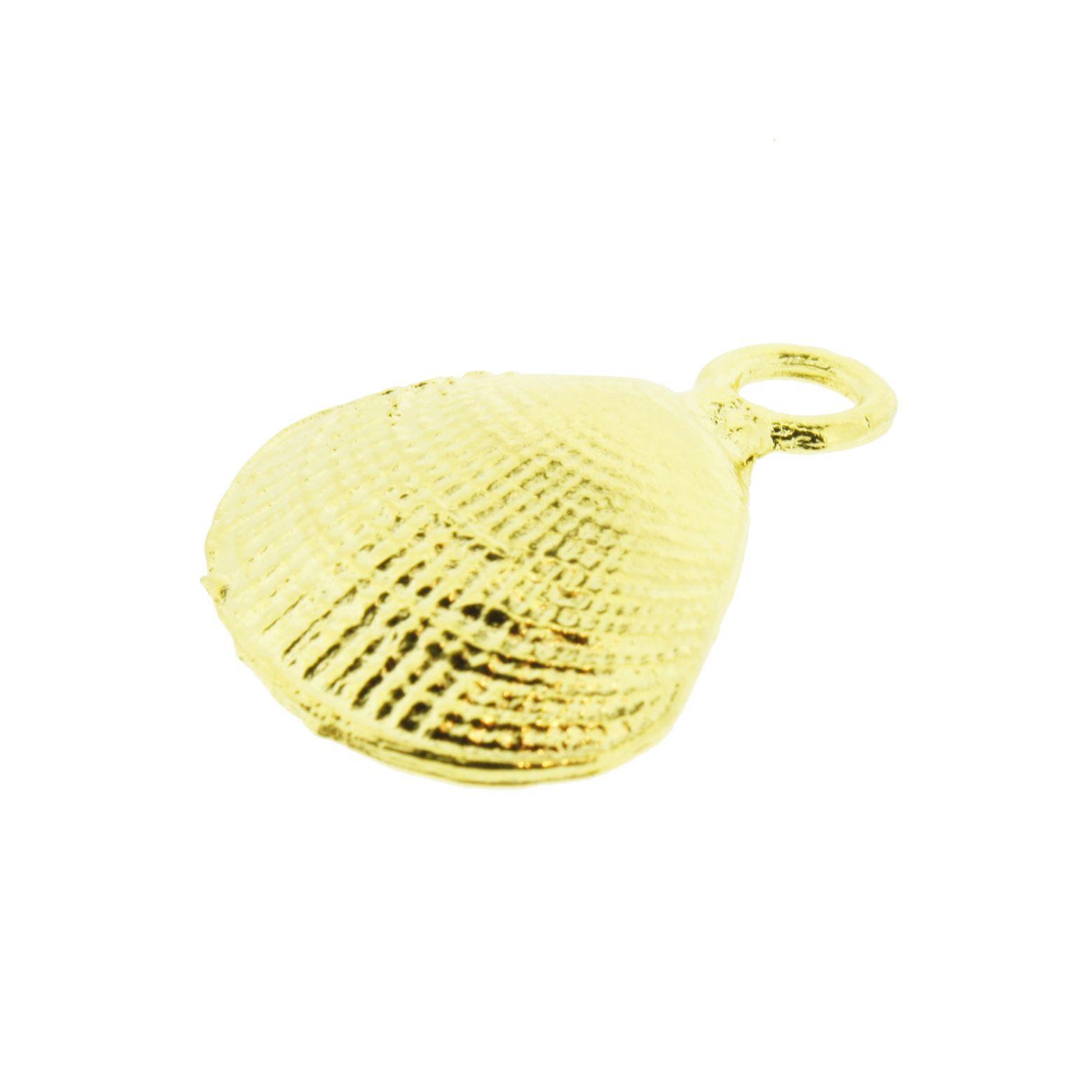 Concha - Dourada - 25mm  - Universo Religioso® - Artigos de Umbanda e Candomblé