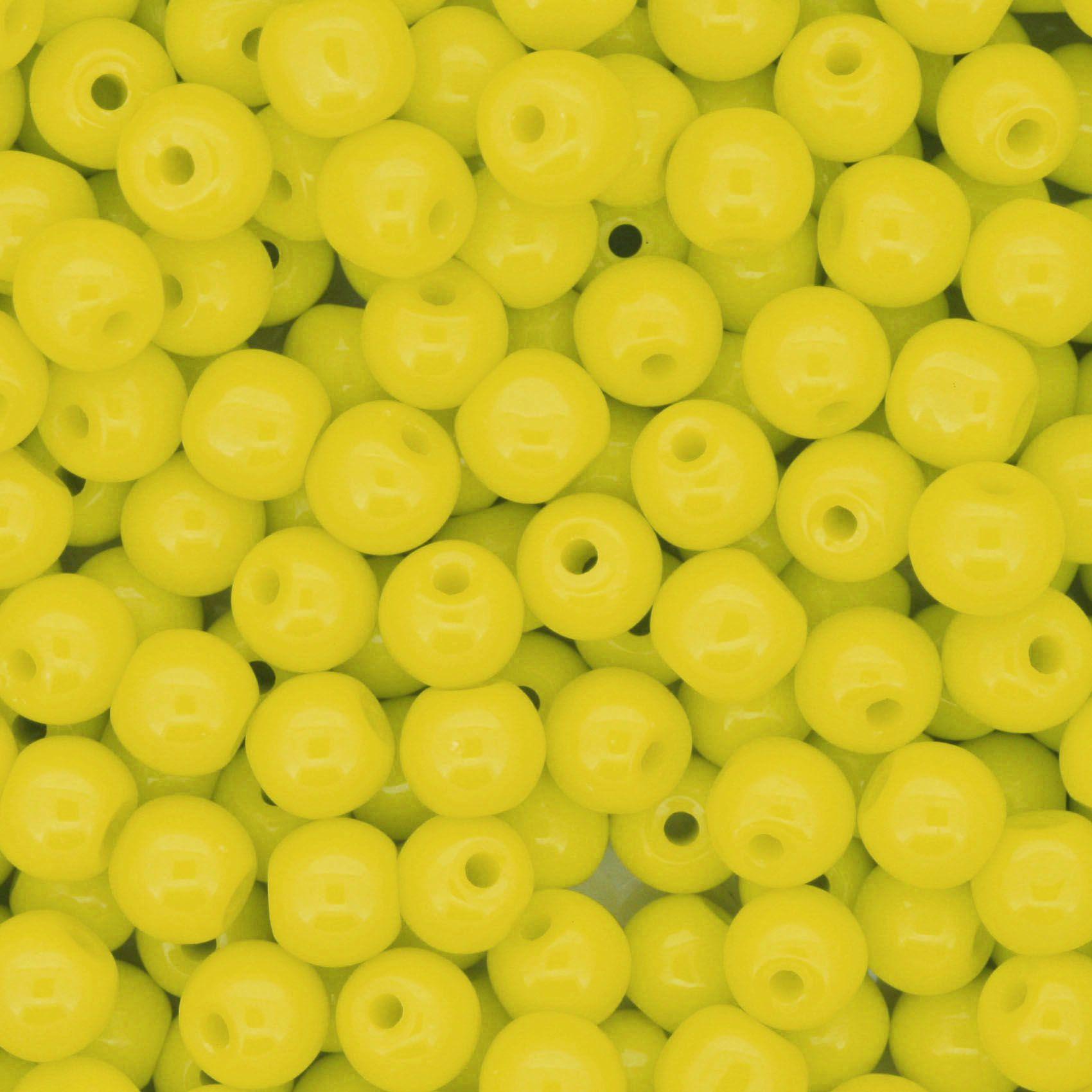 Contas de Porcellana® - Amarela - 6mm  - Universo Religioso® - Artigos de Umbanda e Candomblé