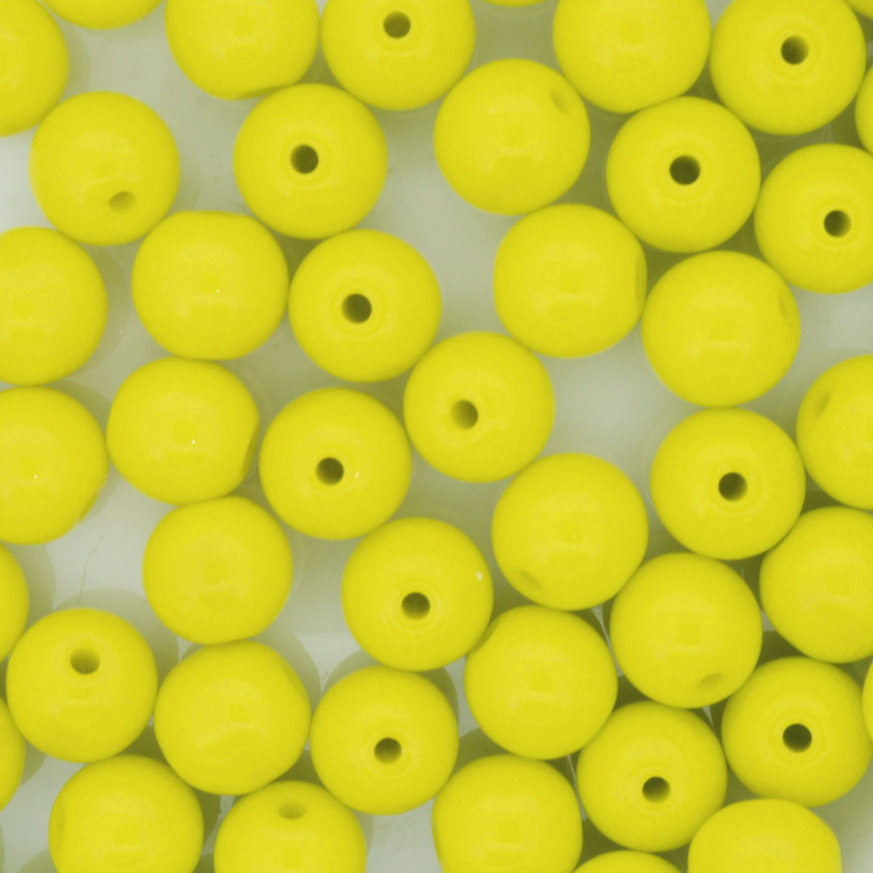 Contas de Porcellana® - Amarela - 8mm  - Universo Religioso® - Artigos de Umbanda e Candomblé