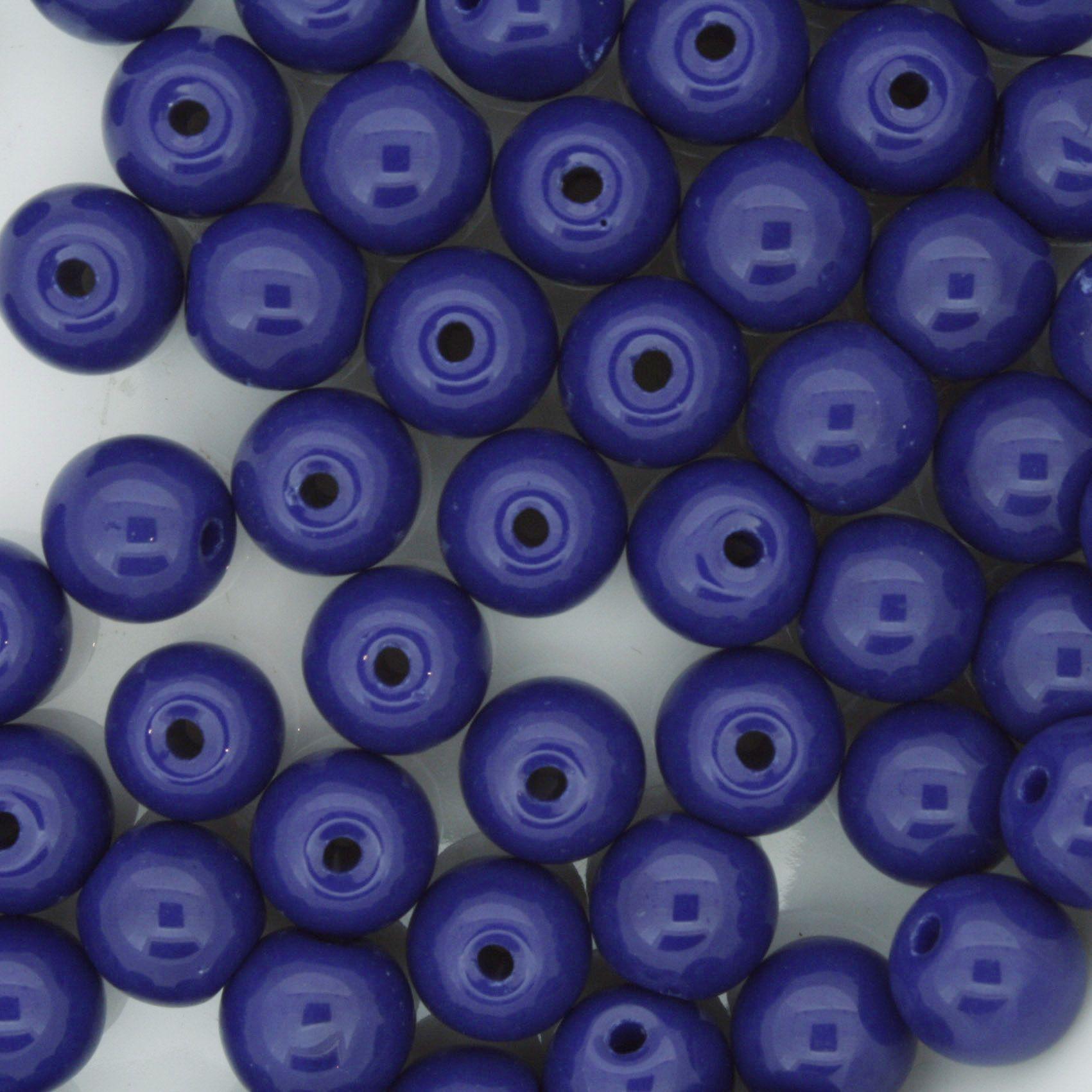 Contas de Porcellana® - Azul Royal - 8mm  - Universo Religioso® - Artigos de Umbanda e Candomblé