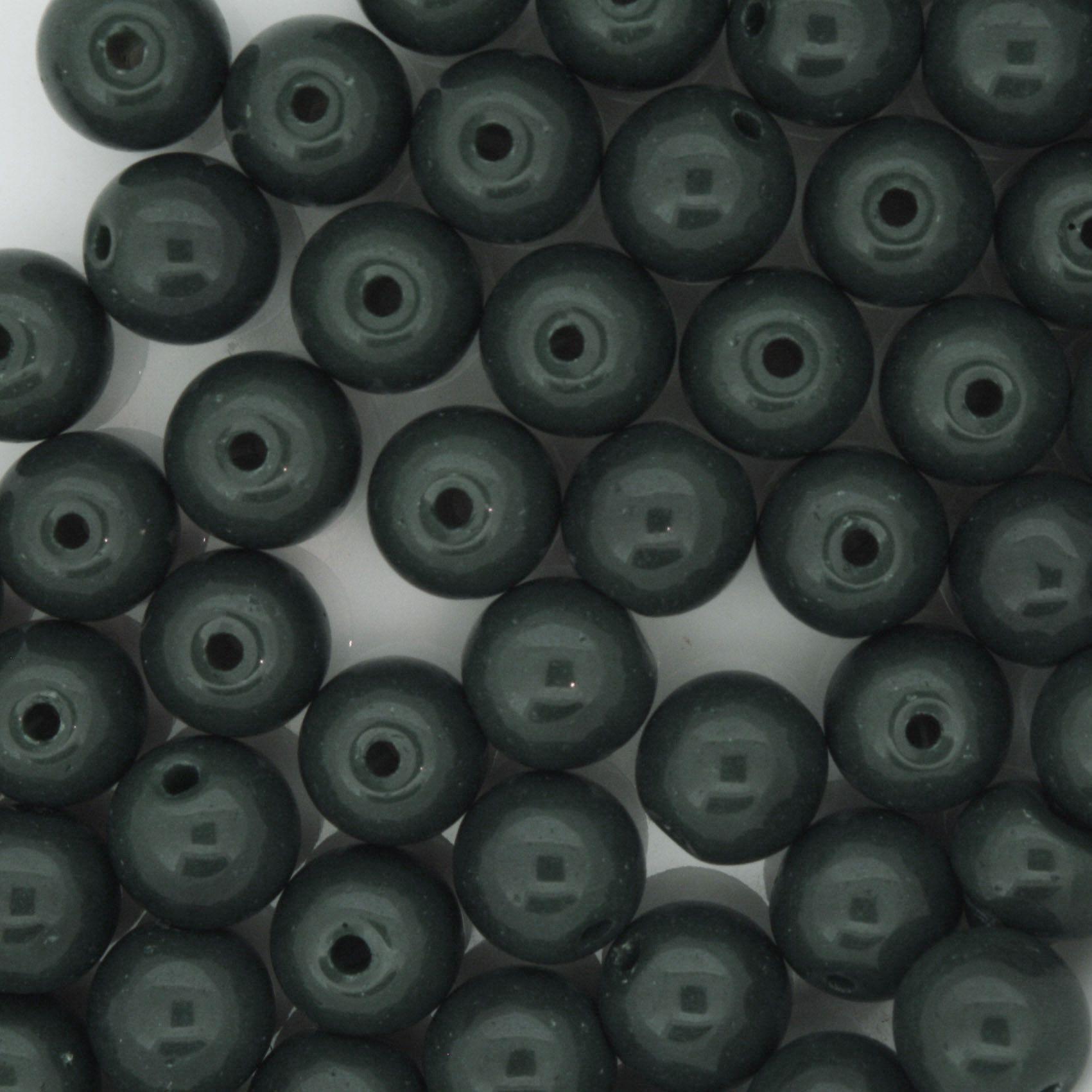 Contas de Porcellana® - Verde Escura - 8mm  - Universo Religioso® - Artigos de Umbanda e Candomblé