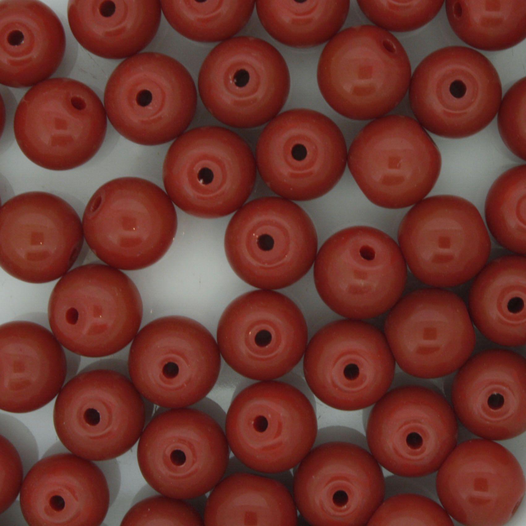 Contas de Porcellana® - Vermelha Escura - 8mm  - Universo Religioso® - Artigos de Umbanda e Candomblé