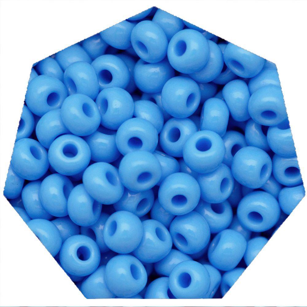 Miçanga Jablonex / Preciosa® - 5/0 [4,6mm] -  Azul Claro - 500g  - Universo Religioso® - Artigos de Umbanda e Candomblé
