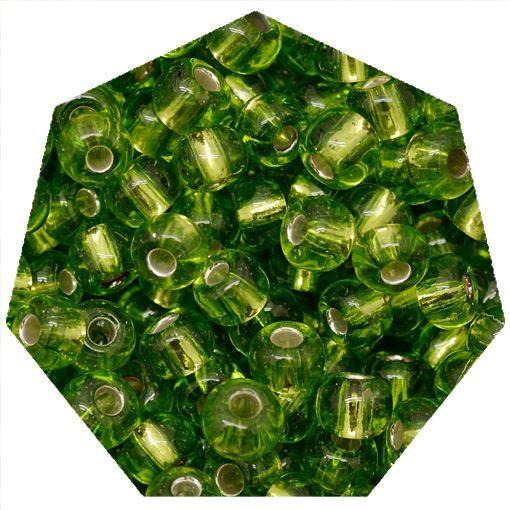 Miçanga Jablonex / Preciosa® - 5/0 [4,6mm] - Verde Transparente - 500g  - Universo Religioso® - Artigos de Umbanda e Candomblé
