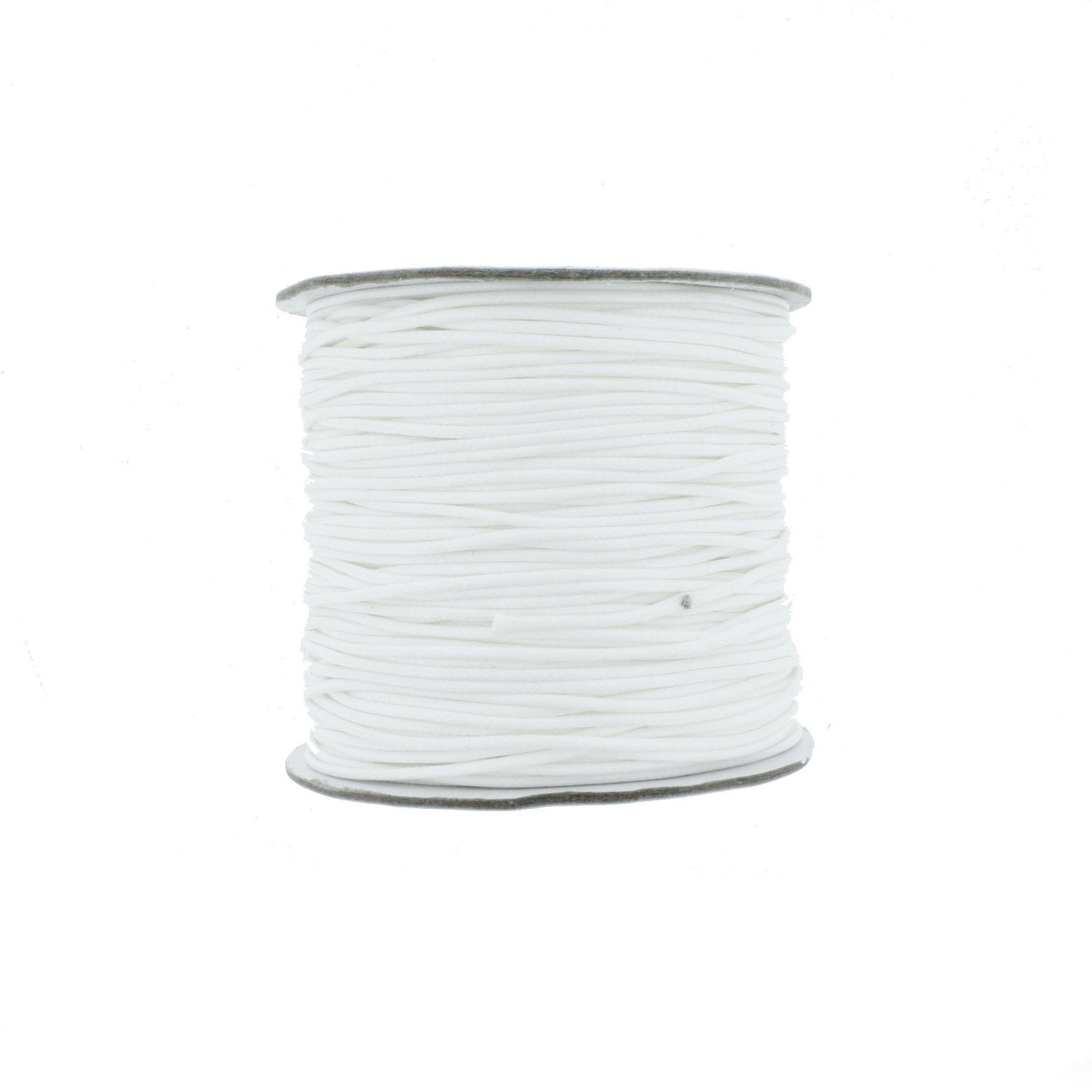 Cordão Encerado 1mm - Perfetto® - Branco  - Universo Religioso® - Artigos de Umbanda e Candomblé