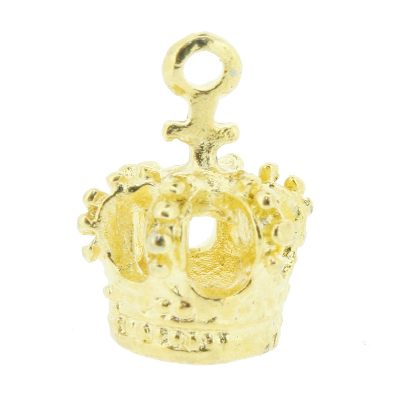 Coroa Dourada - 16mm  - Universo Religioso® - Artigos de Umbanda e Candomblé