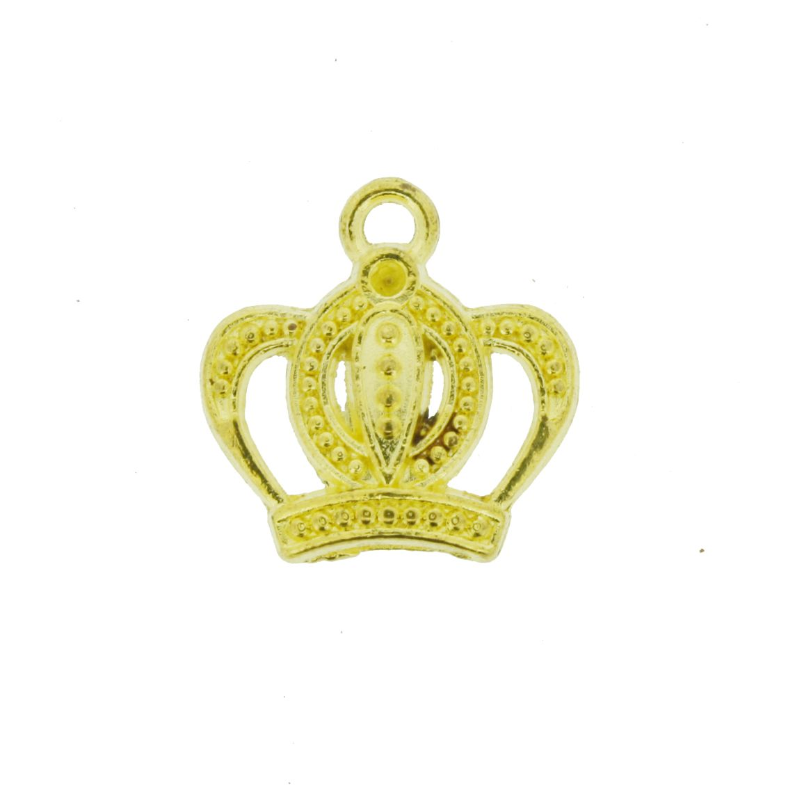 Coroa - Dourada - 16mm - 01 Peça  - Universo Religioso® - Artigos de Umbanda e Candomblé